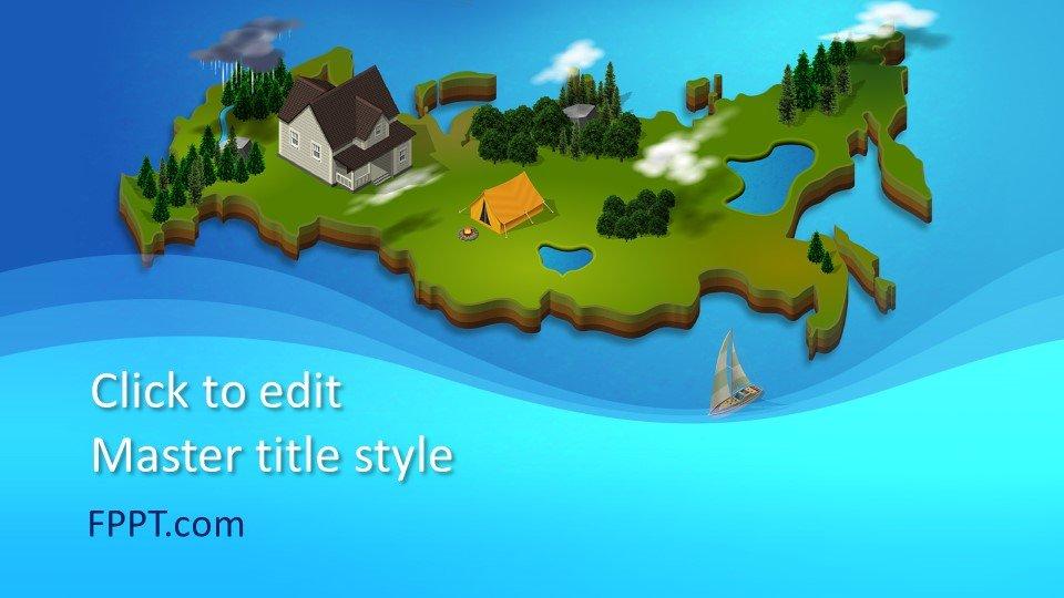 descargar plantilla powerpoint 3D Map