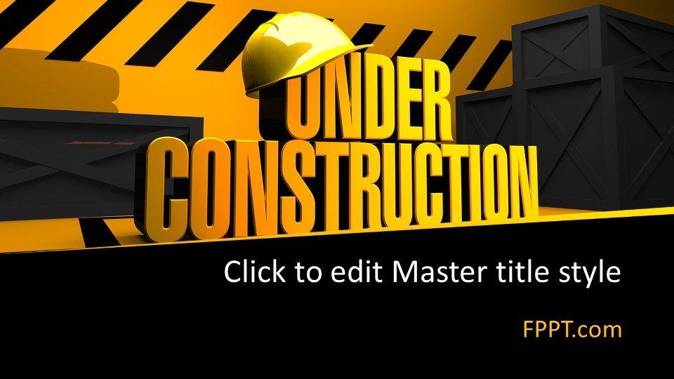 descargar plantilla powerpoint En construcción