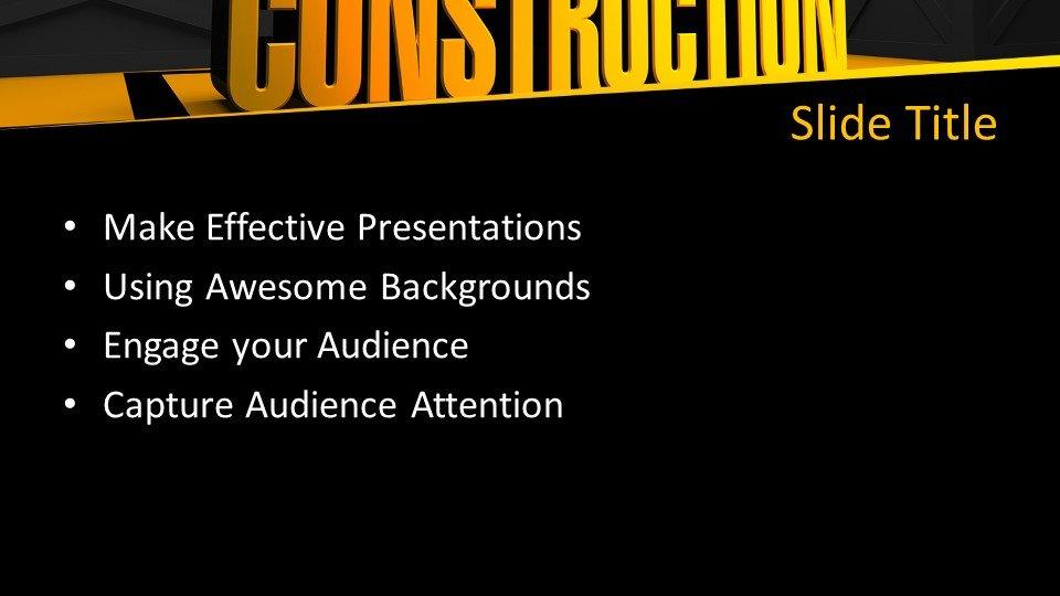slides plantilla powerpoint En construcción
