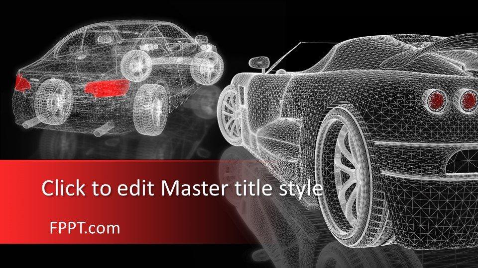 descargar plantilla powerpoint Malla de coche 3D