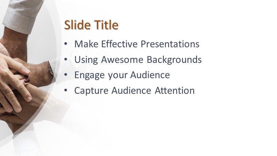 Powerpoint presentacion Manos Trabajo en equipo