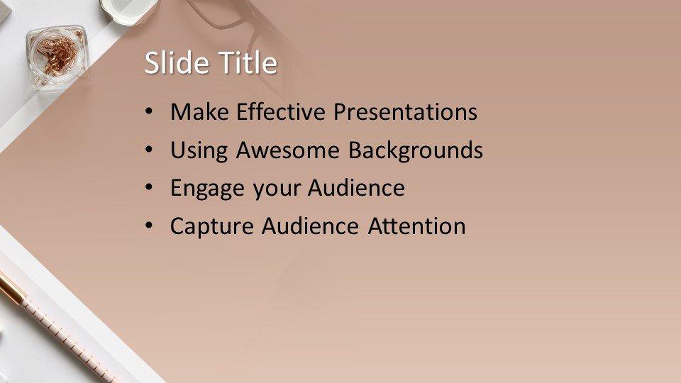 Powerpoint presentacion Elegante escritorio