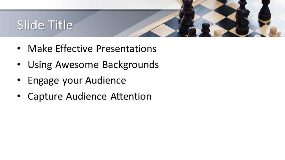 slides plantilla powerpoint Juego de ajedrez
