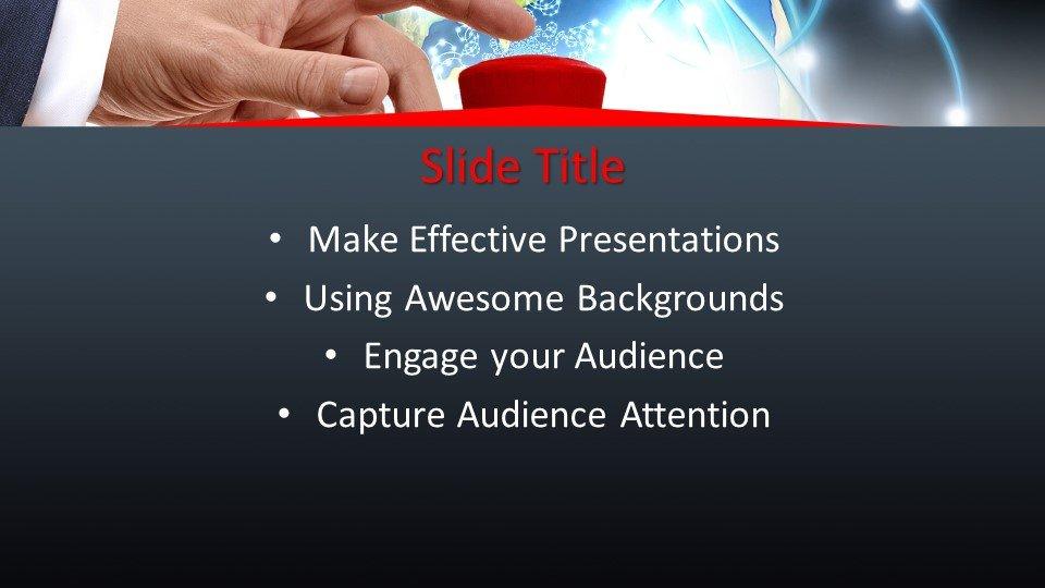 slides plantilla powerpoint Botón rojo