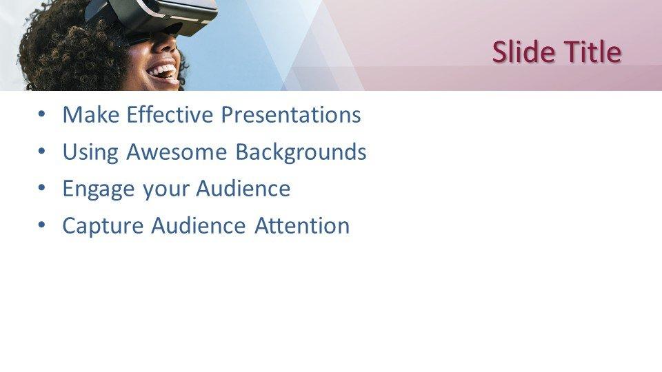 slides plantilla powerpoint Entretenimiento de Realidad Virtual