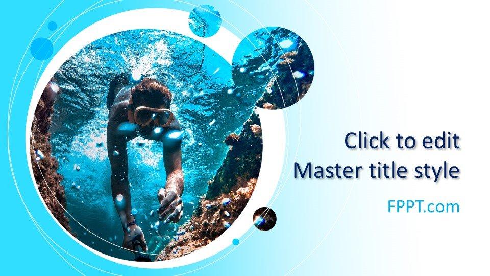 descargar plantilla powerpoint Bajo el agua