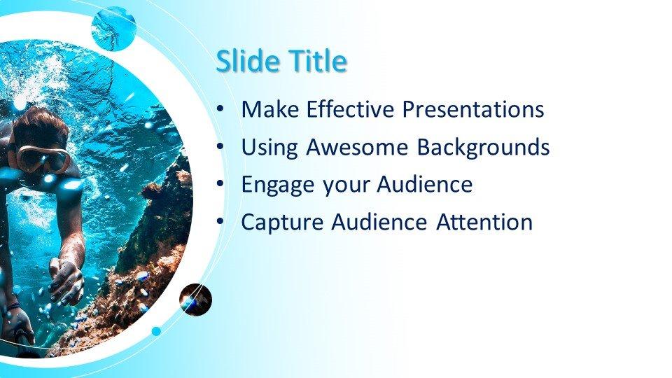Powerpoint presentacion Bajo el agua