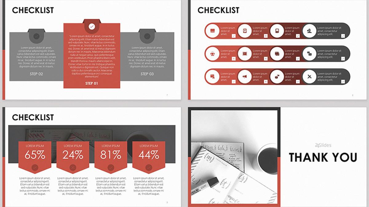 Lista de verificación Plantilla de PowerPoint gratis Diapositiva 2