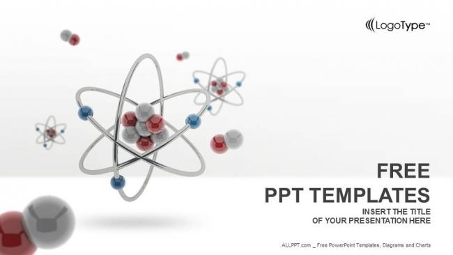 Presentaciones plantilla powerpointModelo Atómico 3D