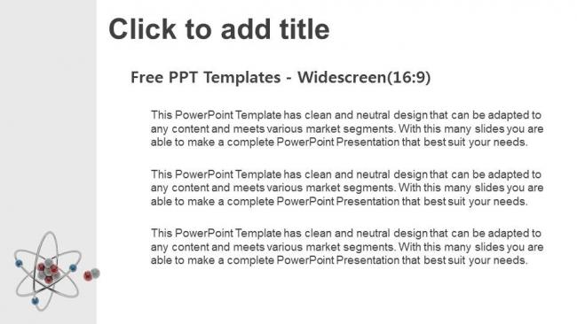 Powerpoint para presentacionesModelo Atómico 3D