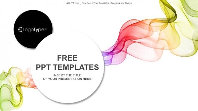 Descargar Presentaciones plantillas powerpointAbstracto Ondas de colores