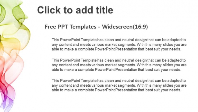 Presentaciones plantilla powerpointAbstracto Ondas de colores