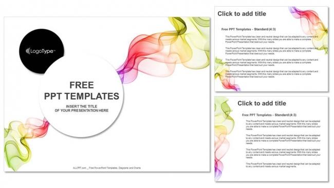 Diapositivas plantilla powerpointAbstracto Ondas de colores