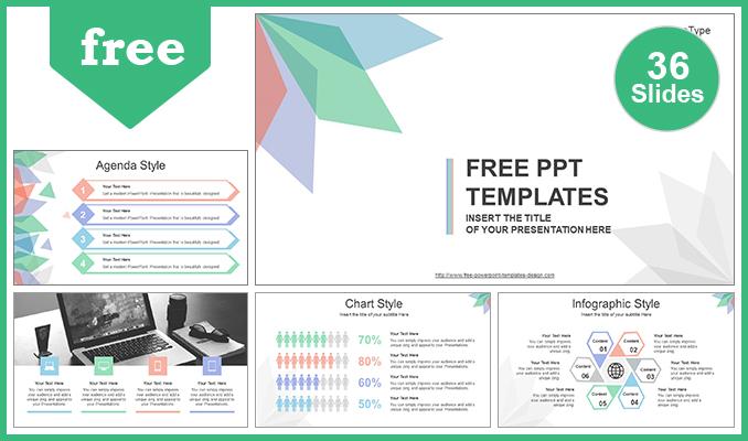 Diapositivas plantilla powerpointHojas Abstractas