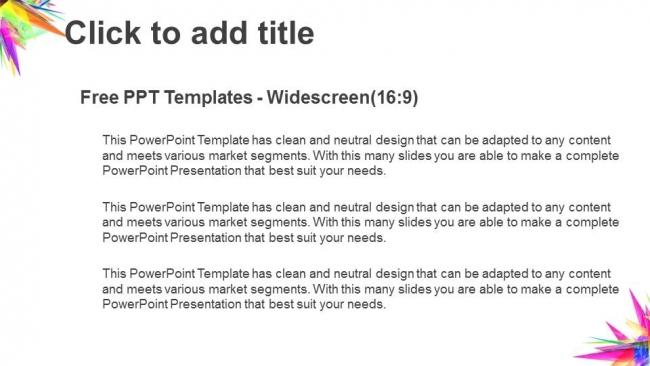 Diapositivas plantilla powerpointTriángulo abstracto