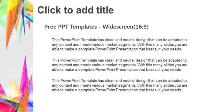 Presentaciones plantilla powerpointTriángulo abstracto