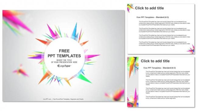 Descargar Presentaciones plantillas powerpointTriángulo abstracto