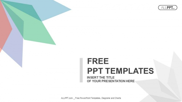 Powerpoint para presentacionesFondo abstracto con hojas de diferentes colores