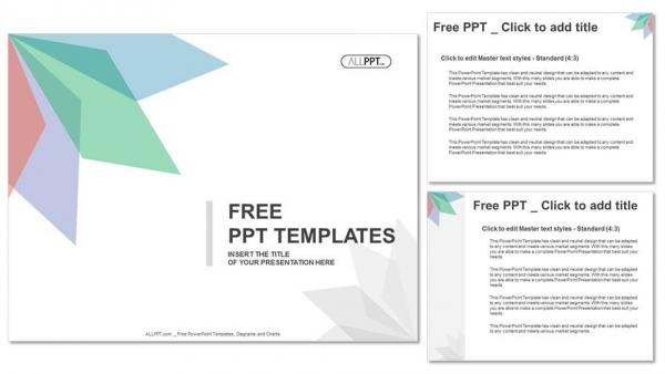 Diapositivas plantilla powerpointFondo abstracto con hojas de diferentes colores