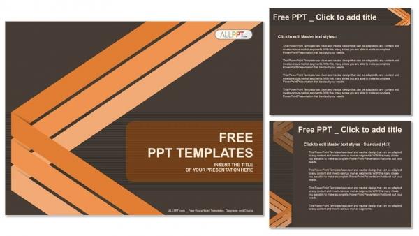 Presentaciones plantilla powerpointFondo abstracto con líneas