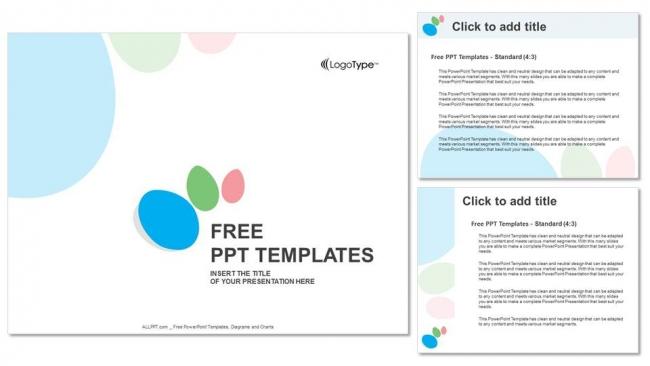 Diapositivas plantilla powerpointFondo colorido abstracto