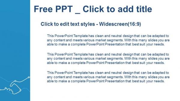 Powerpoint para presentacionesApretón de manos de la ilustración abstracta