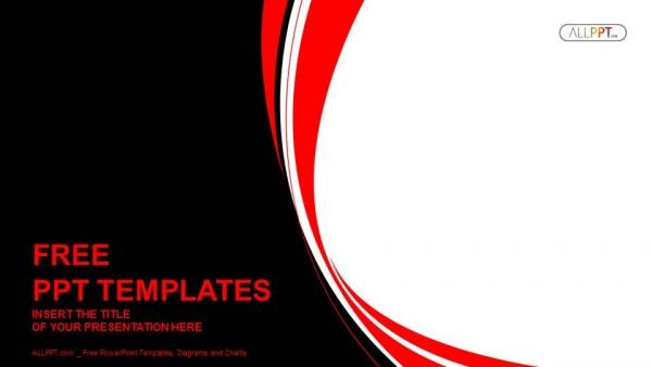 Diapositivas plantilla powerpointResumen fondo rojo y negro ondulado