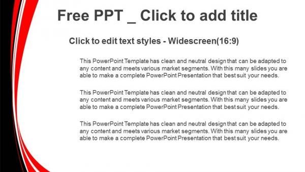 Descargar Presentaciones plantillas powerpointResumen fondo rojo y negro ondulado