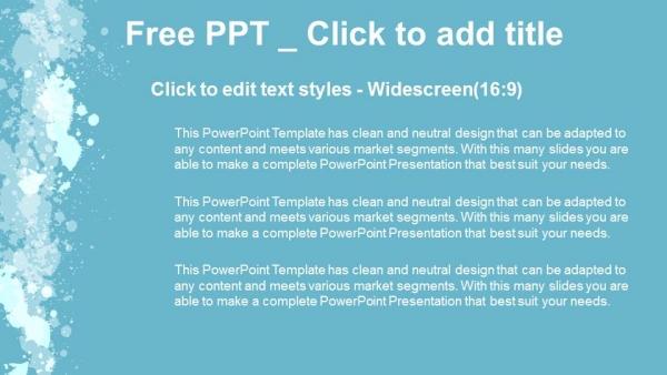 Powerpoint para presentacionesSalpicaduras abstractas