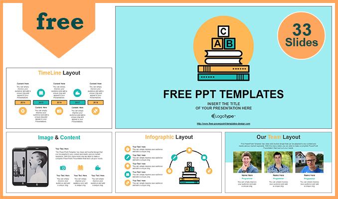 Powerpoint para presentaciones Bloques alfabéticos del concepto