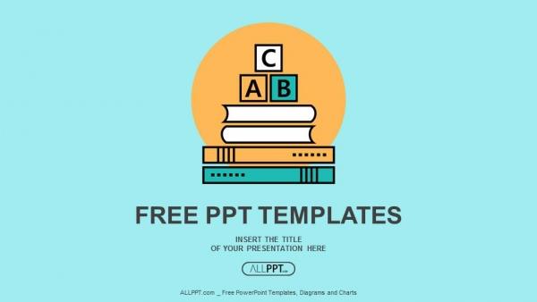 Powerpoint para presentacionesBloques ABC de letras del alfabeto en los libros