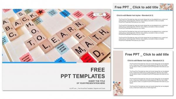 Powerpoint para presentacionesLetras del alfabeto en piezas de scrabble de madera