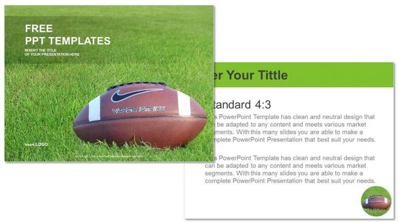 Presentaciones plantilla powerpointFútbol Americano
