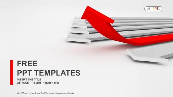 Diapositivas plantilla powerpointFlecha al éxito Concepto de liderazgo