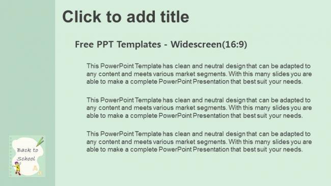 Descargar Presentaciones plantillas powerpointRegreso a la escuela