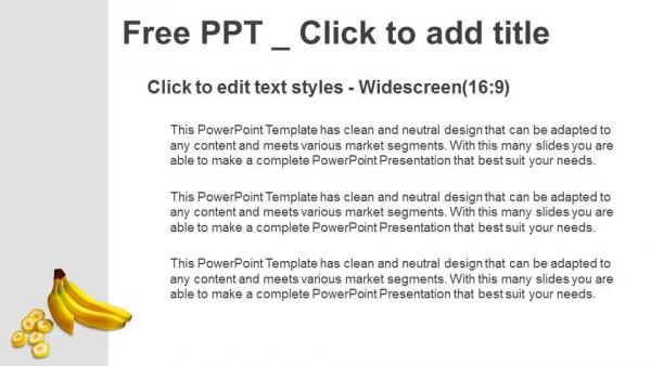 Presentaciones plantilla powerpointPlátanos enteros y cortados en rodajas sobre fondo blanco
