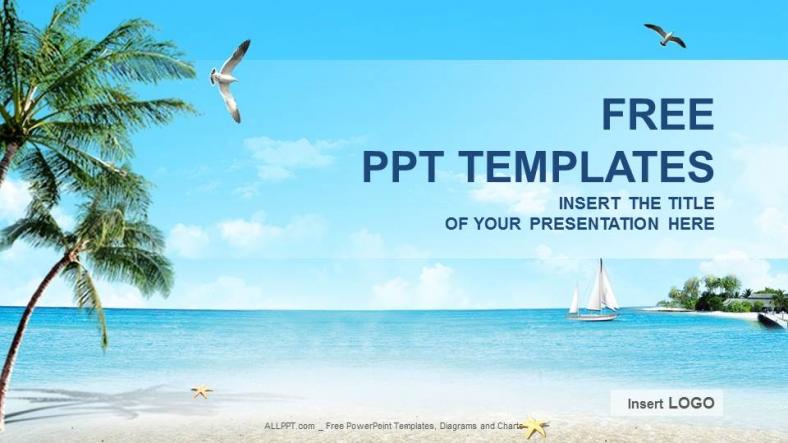 Diapositivas plantilla powerpointPlaya