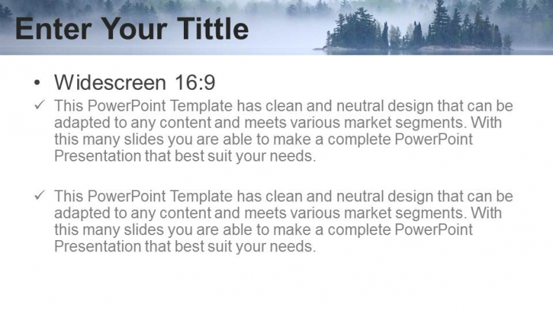 Presentaciones plantilla powerpointHermosa vista al lago