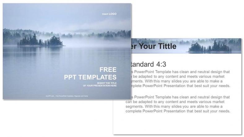 Powerpoint para presentacionesHermosa vista al lago