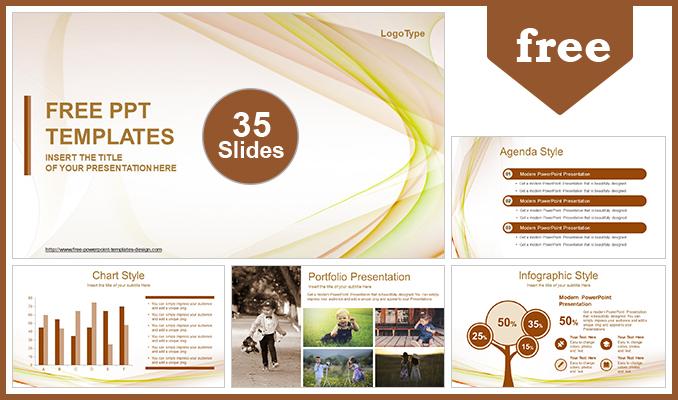 Descargar Presentaciones plantillas powerpointHermosa Ola