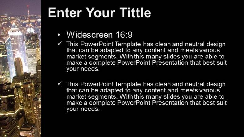 Powerpoint para presentacionesCiudad grande