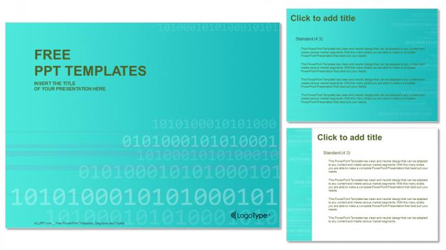 Descargar Presentaciones plantillas powerpointCódigo binario