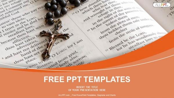 Descargar Presentaciones plantillas powerpointRosario de cuentas negras en biblia abierta