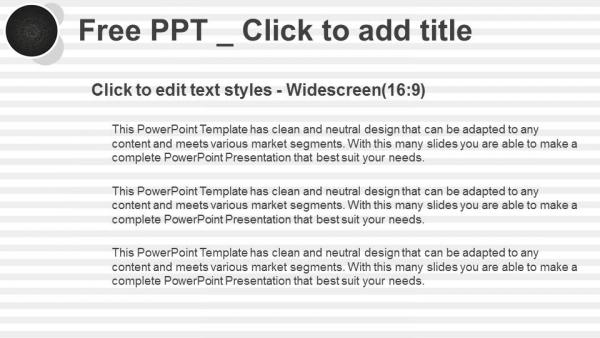 Presentaciones plantilla powerpointCírculos negros sobre fondo con rayas