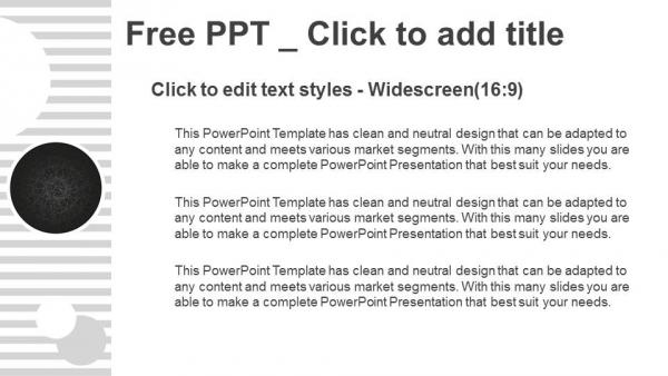 Descargar Presentaciones plantillas powerpointCírculos negros sobre fondo con rayas