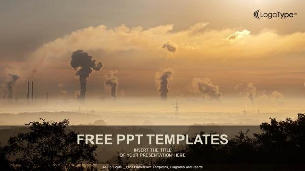 Presentaciones plantilla powerpointHumo negro de la chimenea
