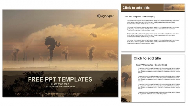 Descargar Presentaciones plantillas powerpointHumo negro de la chimenea