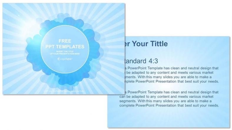 Diapositivas plantilla powerpointCielo Azul y Nube