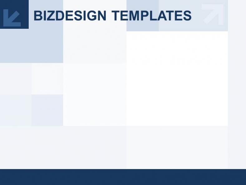 Diapositivas plantilla powerpointCuadrados azules y diseño de hileras