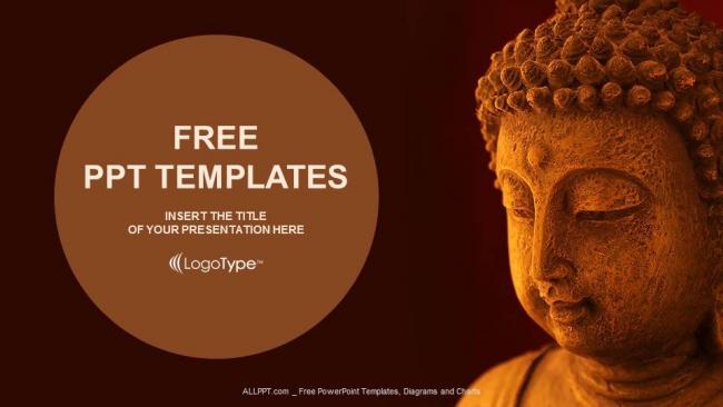 Diapositivas plantilla powerpoint Máscara de Buda